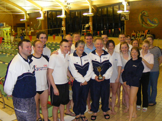 Above: Christchurch Seagulls Masters win the Dorset Masters Championships for the third year running